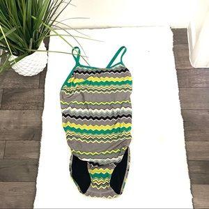 Speedo 1-piece swimsuit swim beach pool ocean EUC